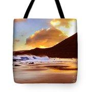 Sandy Beach Sunset Tote Bag