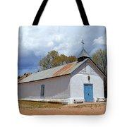 Sangre De Cristo Chapel In Cuartelez In New Mexico Tote Bag