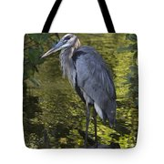 Sanibel Great Blue Heron Tote Bag