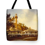 Sanibel Lighthouse Landscape Tote Bag