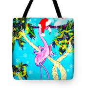 Santa Baby Flamingo Tote Bag