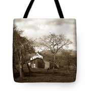 Santa Barbara Mission California Circa 1890 Tote Bag