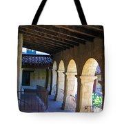 Santa Barbara Mission Cloister Tote Bag