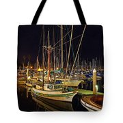 Santa Barbata Harbor Color Tote Bag