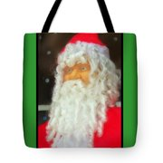 Santa Christmas Card Tote Bag