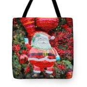 Santa Claus Balloon Tote Bag