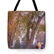 Santa Claus In The Snow Tote Bag