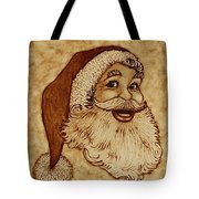Santa Claus Joyful Face Tote Bag by Georgeta  Blanaru