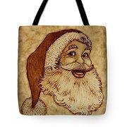 Santa Claus Joyful Face Tote Bag