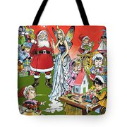 Santa Claus Toy Factory Tote Bag by Jesus Blasco