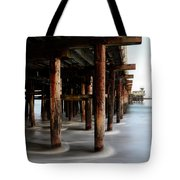 Santa Cruz Pier California Tote Bag