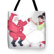Santa Dances Tote Bag