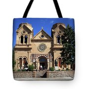 Santa Fe - Basilica Of St. Francis Of Assisi Tote Bag