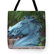 Santa Fe Big Blue Horse Tote Bag