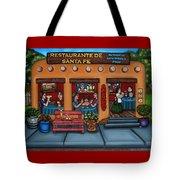 Santa Fe Restaurant Tote Bag by Victoria De Almeida