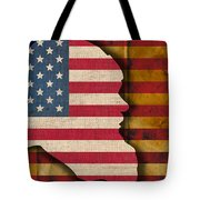 Santa Flag Tote Bag