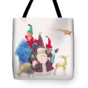 Santa Gets Ready Tote Bag