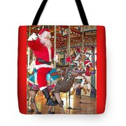 Santa Go Round Tote Bag