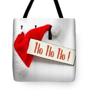 Santa Hat And Sign Tote Bag