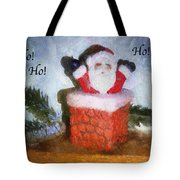 Santa Ho Ho Ho Photo Art Tote Bag