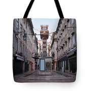 Santa Justa Lift In Lisbon Tote Bag
