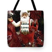 Santa Loves Coke Tote Bag