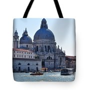 Santa Maria Della Salute Surrounded By Sparkling Waters Tote Bag