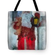 Santa Merry Christmas Photo Art 02 Tote Bag