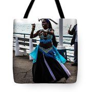 Santa Monica Belly Dancer Tote Bag