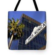 Santa Monica Blvd Sign In Beverly Hills California Tote Bag