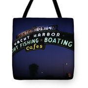 Santa Monica Pier Sign Tote Bag