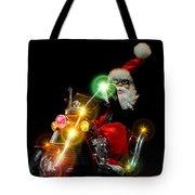 Santa Motoring Tote Bag