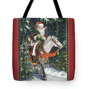 Santa Of The Northern Forest Tote Bag