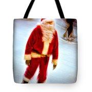Santa On Ice Tote Bag