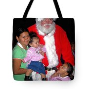 Santa Poses With Fans At Annual Christmas Parade Eloy Arizona 2004 Tote Bag