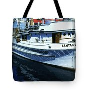Santa Rosa Purse-seiner Fishing Boat Monterey Bay Circa 1950 Tote Bag