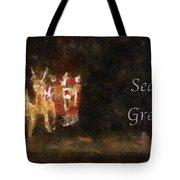 Santa Season Greetings Photo Art Tote Bag