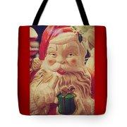 Santa Whispers Vintage Tote Bag by Toni Hopper