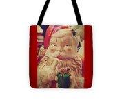 Santa Whispers Vintage Tote Bag