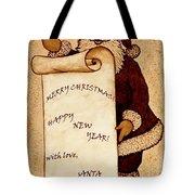 Santa Wishes Digital Art Tote Bag