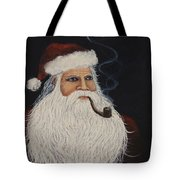 Santa With His Pipe Tote Bag