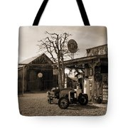 Santa Ynes Gas Station    Sepia Tote Bag