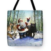 Santa's Christmas Morning Tote Bag