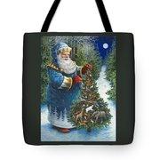 Santa's Christmas Tree Tote Bag