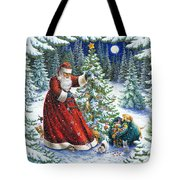 Santa's Little Helpers Tote Bag by Lynn Bywaters