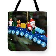 Santa's Train Delivery Tote Bag