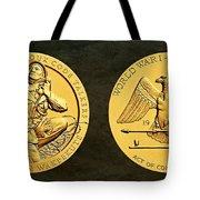 Santee Sioux Tribe Code Talkers Bronze Medal Art Tote Bag