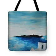 Santorini Blue Dome Tote Bag