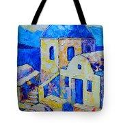 Santorini Afternoon Tote Bag