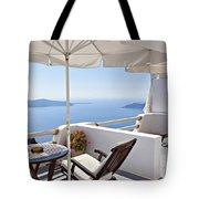 Santorini Balcony  Tote Bag
